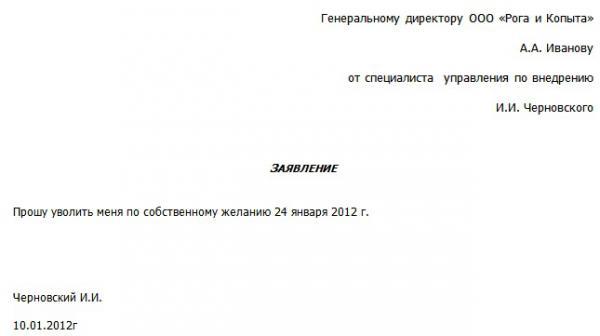 образец заявления увольнения на пенсию по старости - фото 6
